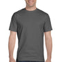 Hanes Mens ComfortSoft Short Sleeve Crewneck T-Shirt - Smoke Grey