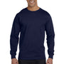 Hanes Mens ComfortSoft Long Sleeve Crewneck T-Shirt - Navy Blue