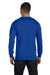 Hanes 5286 Mens ComfortSoft Long Sleeve Crewneck T-Shirt Royal Blue Back