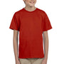 Hanes Youth EcoSmart Short Sleeve Crewneck T-Shirt - Deep Red