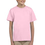 Hanes Youth EcoSmart Short Sleeve Crewneck T-Shirt - Pale Pink