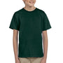 Hanes Youth EcoSmart Short Sleeve Crewneck T-Shirt - Deep Forest Green