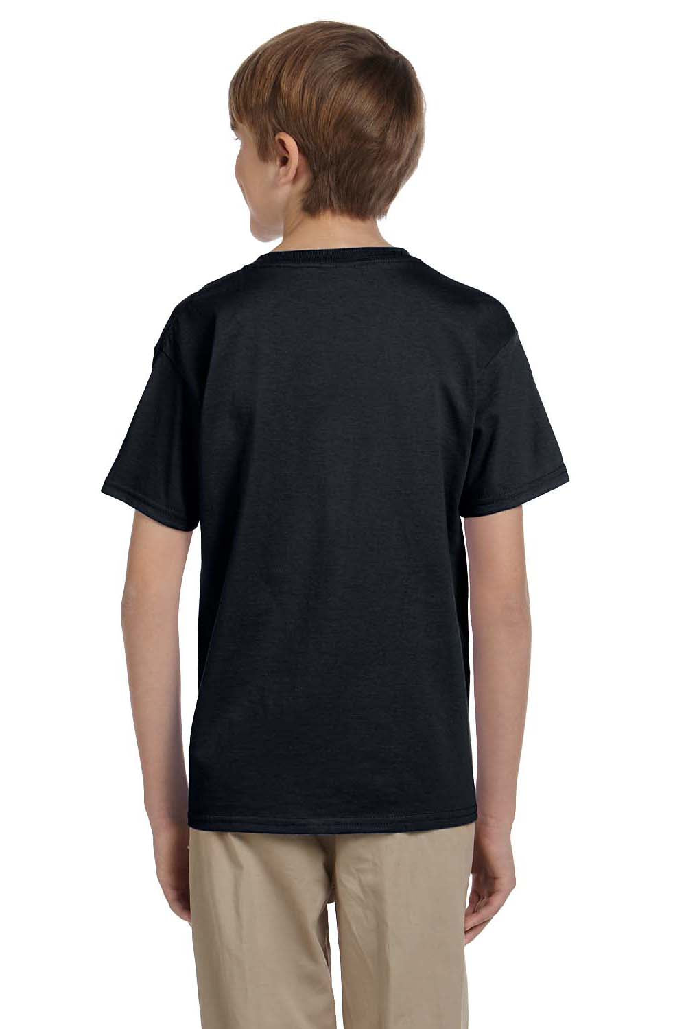 Hanes 5370 Youth EcoSmart Short Sleeve Crewneck T-Shirt Black Back