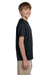 Hanes 5370 Youth EcoSmart Short Sleeve Crewneck T-Shirt Black Side