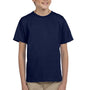 Hanes Youth EcoSmart Short Sleeve Crewneck T-Shirt - Navy Blue