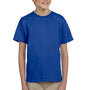Hanes Youth EcoSmart Short Sleeve Crewneck T-Shirt - Deep Royal Blue