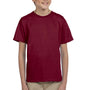 Hanes Youth EcoSmart Short Sleeve Crewneck T-Shirt - Cardinal Red
