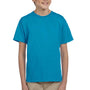 Hanes Youth EcoSmart Short Sleeve Crewneck T-Shirt - Teal Blue