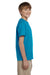 Hanes 5370 Youth EcoSmart Short Sleeve Crewneck T-Shirt Teal Blue Side
