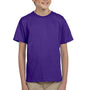 Hanes Youth EcoSmart Short Sleeve Crewneck T-Shirt - Purple