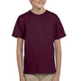 Hanes Youth EcoSmart Short Sleeve Crewneck T-Shirt - Maroon