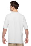 Jerzees 537MSR Mens Easy Care Moisture Wicking Short Sleeve Polo Shirt White Back
