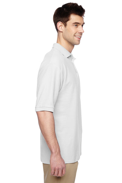 Jerzees 537MSR Mens Easy Care Moisture Wicking Short Sleeve Polo Shirt White Side