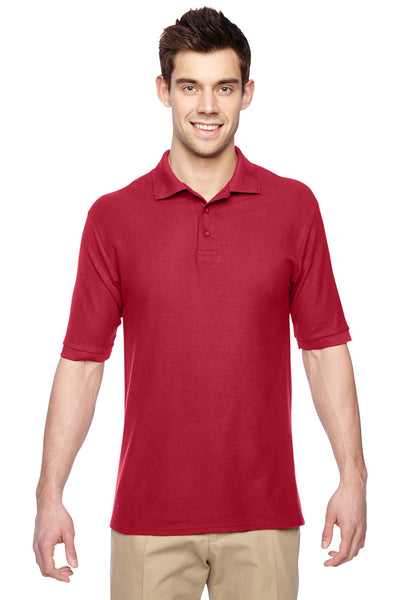 Jerzees 537MSR Mens Easy Care Moisture Wicking Short Sleeve Polo Shirt Red Front