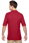 Jerzees 537MSR Mens Easy Care Moisture Wicking Short Sleeve Polo Shirt Red Back