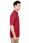 Jerzees 537MSR Mens Easy Care Moisture Wicking Short Sleeve Polo Shirt Red Side