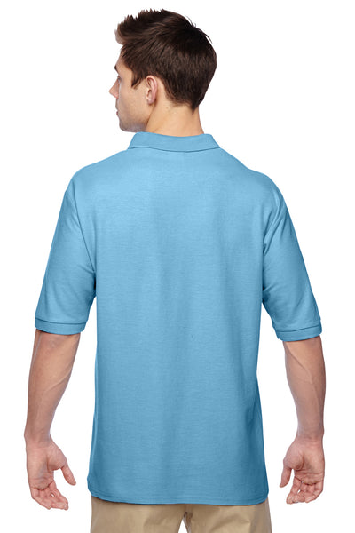 Jerzees 537MSR Mens Easy Care Moisture Wicking Short Sleeve Polo Shirt Light Blue Back