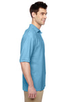 Jerzees 537MSR Mens Easy Care Moisture Wicking Short Sleeve Polo Shirt Light Blue Side