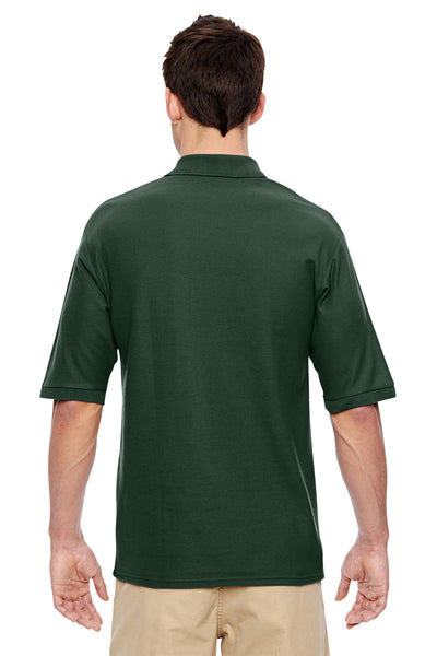 Jerzees 537MSR Mens Easy Care Moisture Wicking Short Sleeve Polo Shirt Forest Green Back