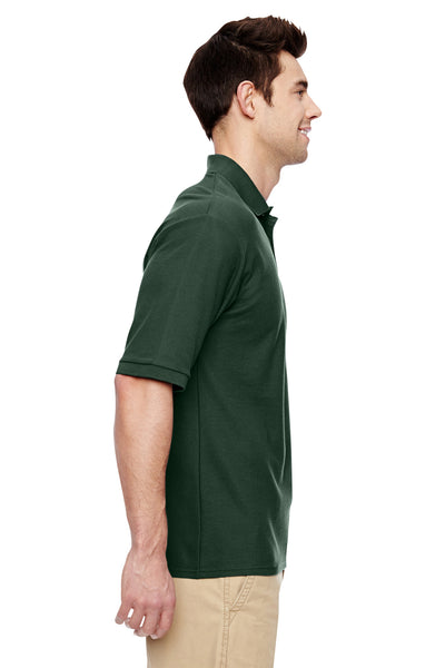 Jerzees 537MSR Mens Easy Care Moisture Wicking Short Sleeve Polo Shirt Forest Green Side