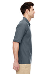 Jerzees 537MSR Mens Easy Care Moisture Wicking Short Sleeve Polo Shirt Charcoal Grey Side
