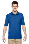 Jerzees 537MSR Mens Easy Care Moisture Wicking Short Sleeve Polo Shirt Royal Blue Front
