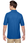 Jerzees 537MSR Mens Easy Care Moisture Wicking Short Sleeve Polo Shirt Royal Blue Back