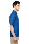 Jerzees 537MSR Mens Easy Care Moisture Wicking Short Sleeve Polo Shirt Royal Blue Side