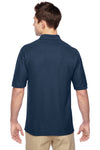 Jerzees 537MSR Mens Easy Care Moisture Wicking Short Sleeve Polo Shirt Navy Blue Back