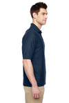 Jerzees 537MSR Mens Easy Care Moisture Wicking Short Sleeve Polo Shirt Navy Blue Side