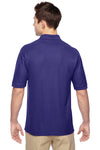 Jerzees 537MSR Mens Easy Care Moisture Wicking Short Sleeve Polo Shirt Purple Back