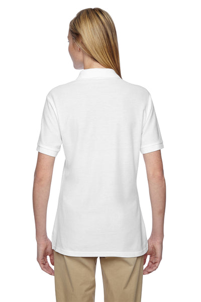Jerzees 537WR Womens Easy Care Moisture Wicking Short Sleeve Polo Shirt White Back