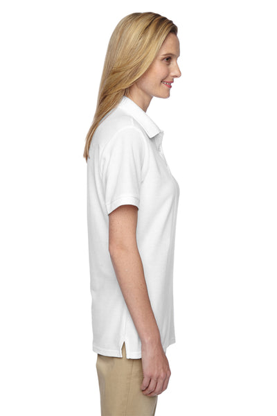 Jerzees 537WR Womens Easy Care Moisture Wicking Short Sleeve Polo Shirt White Side
