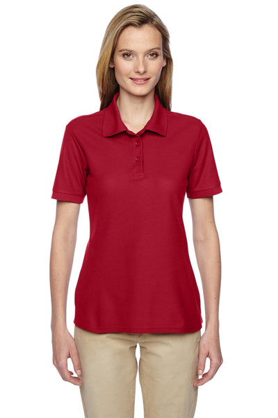 Jerzees 537WR Womens Easy Care Moisture Wicking Short Sleeve Polo Shirt Red Front
