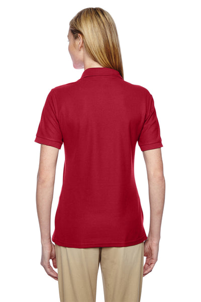 Jerzees 537WR Womens Easy Care Moisture Wicking Short Sleeve Polo Shirt Red Back