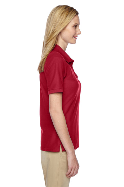 Jerzees 537WR Womens Easy Care Moisture Wicking Short Sleeve Polo Shirt Red Side
