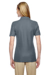 Jerzees 537WR Womens Easy Care Moisture Wicking Short Sleeve Polo Shirt Charcoal Grey Back
