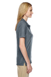 Jerzees 537WR Womens Easy Care Moisture Wicking Short Sleeve Polo Shirt Charcoal Grey Side
