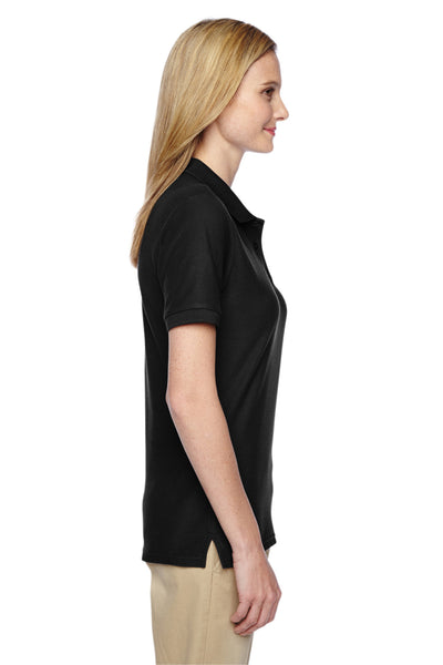 Jerzees 537WR Womens Easy Care Moisture Wicking Short Sleeve Polo Shirt Black Side