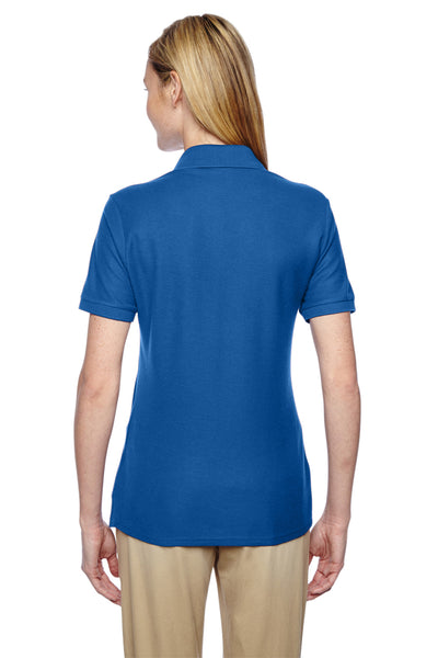 Jerzees 537WR Womens Easy Care Moisture Wicking Short Sleeve Polo Shirt Royal Blue Back