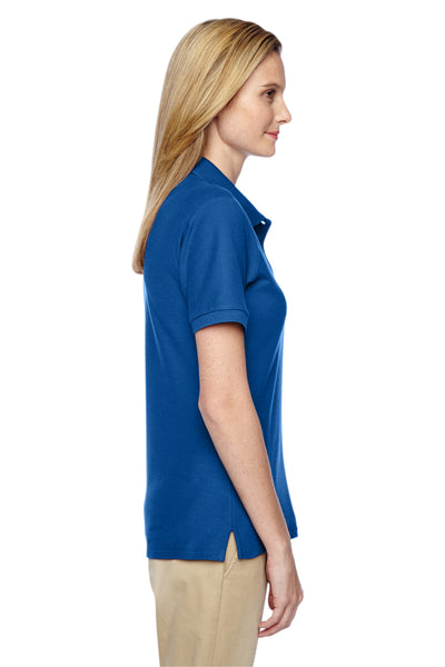 Jerzees 537WR Womens Easy Care Moisture Wicking Short Sleeve Polo Shirt Royal Blue Side