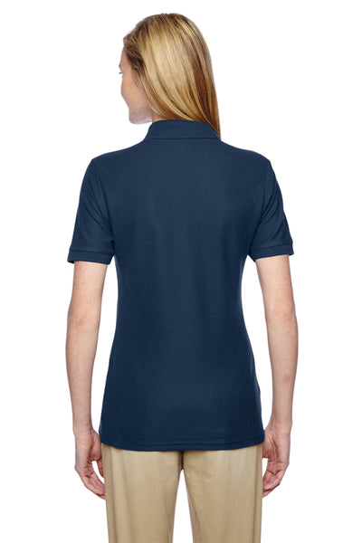 Jerzees 537WR Womens Easy Care Moisture Wicking Short Sleeve Polo Shirt Navy Blue Back