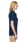 Jerzees 537WR Womens Easy Care Moisture Wicking Short Sleeve Polo Shirt Navy Blue Side