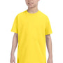 Hanes Youth ComfortSoft Short Sleeve Crewneck T-Shirt - Yellow