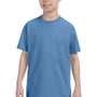 Hanes Youth ComfortSoft Short Sleeve Crewneck T-Shirt - Carolina Blue