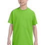 Hanes Youth ComfortSoft Short Sleeve Crewneck T-Shirt - Lime Green