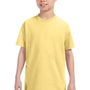 Hanes Youth ComfortSoft Short Sleeve Crewneck T-Shirt - Daffodil Yellow