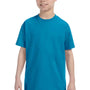 Hanes Youth ComfortSoft Short Sleeve Crewneck T-Shirt - Teal Blue