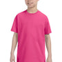 Hanes Youth ComfortSoft Short Sleeve Crewneck T-Shirt - Wow Pink