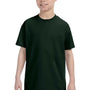 Hanes Youth ComfortSoft Short Sleeve Crewneck T-Shirt - Deep Forest Green